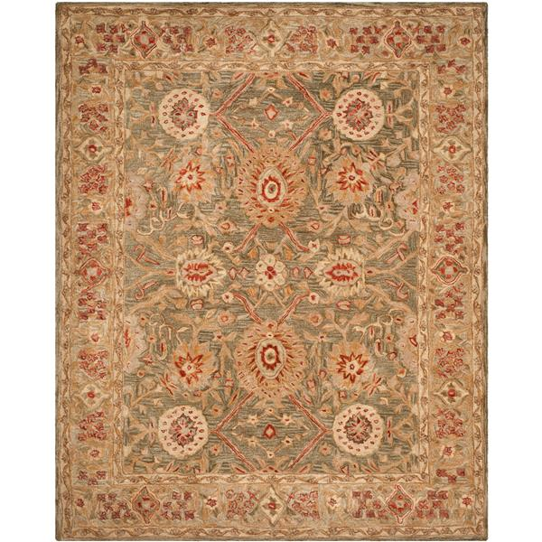 Safavieh Anatolia Floral Rug - 9.5' x 13.5' - Wool - Brown/Ivory