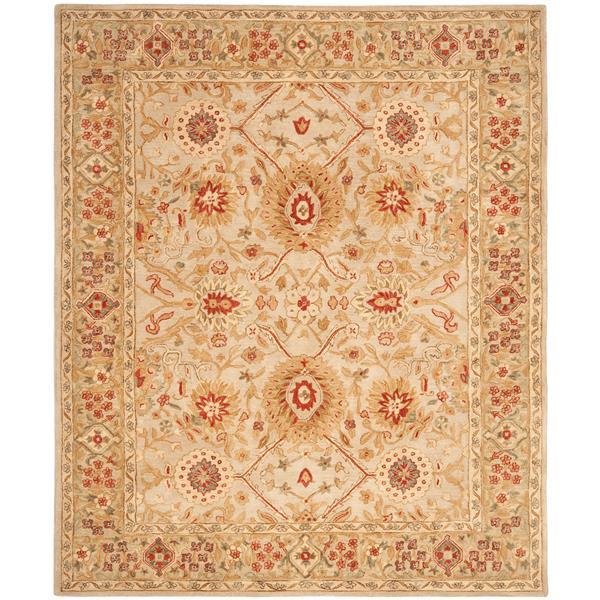 Safavieh Anatolia Floral Rug - 9.5' x 13.5' - Wool - Beige/Sage