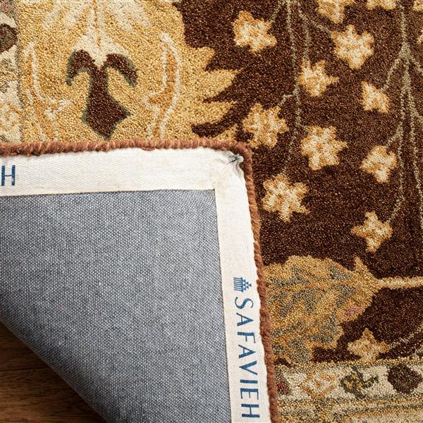 Safavieh Anatolia Floral Rug - 9.5' x 13.5' - Wool - Brown/Beige