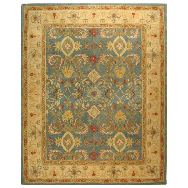 Safavieh Anatolia Floral Rug - 9.5' x 13.5' - Wool - Light Blue/Ivory