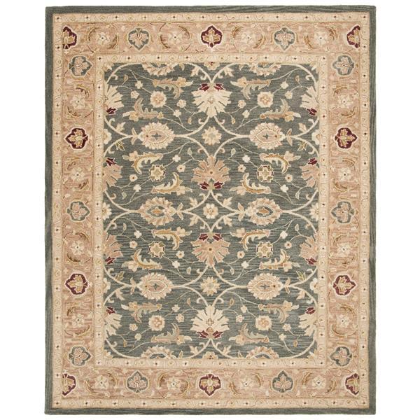 Safavieh Anatolia Floral Rug - 9.5' x 13.5' - Wool - Teal/Taupe