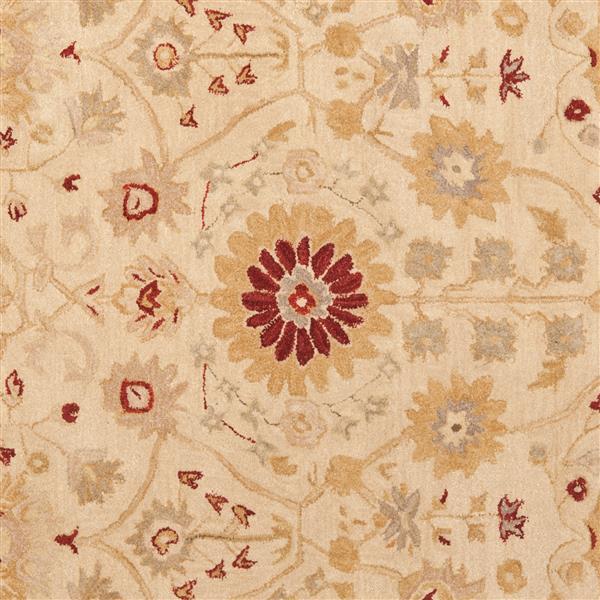 Safavieh Anatolia Floral Rug - 9.5' x 13.5' - Wool - Sand/Walnut