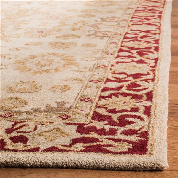 Safavieh Anatolia Floral Rug - 9.5' x 13.5' - Wool - Ivory/Red
