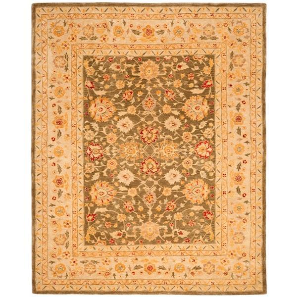 Safavieh Anatolia Floral Rug - 9.5' x 13.5' - Wool - Gray/Beige