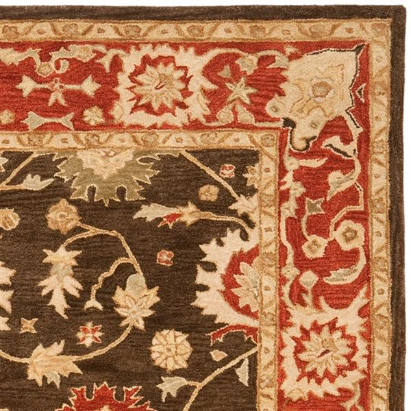 Safavieh Anatolia Floral Rug - 9.5' x 13.5' - Wool - Olive/Rust