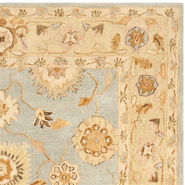 Safavieh Anatolia Floral Rug - 9.5' x 13.5' - Wool - Light Blue/Sage