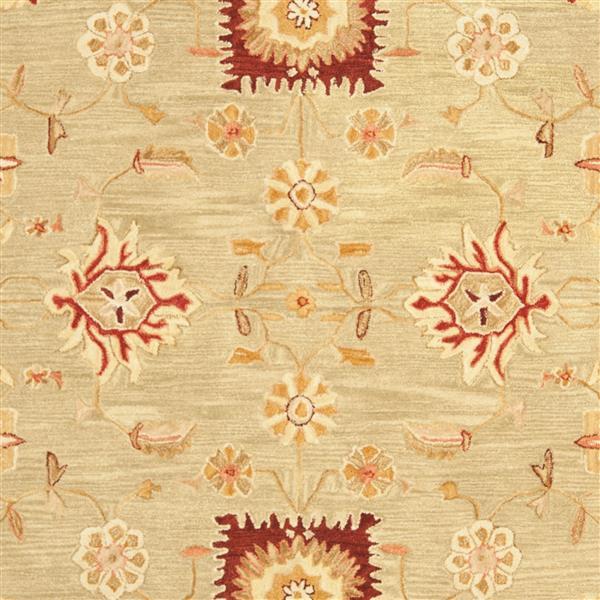 Safavieh Anatolia Floral Rug - 9.5' x 13.5' - Wool - Sage/Burgundy