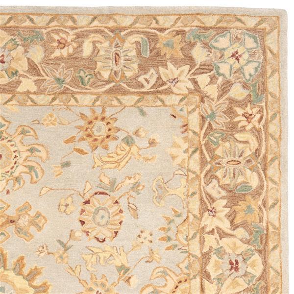 Safavieh Anatolia Floral Rug - 9.5' x 13.5' - Wool - Teal/Brown