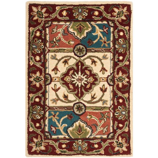 Safavieh Heritage Floral Rug - 2' x 3' - Wool - Multicolour
