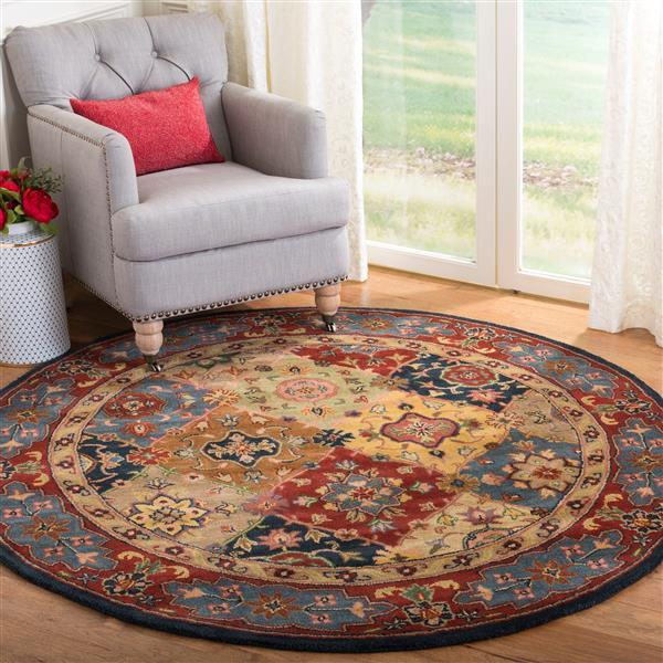 Safavieh Heritage Floral Rug - 3.5' x 3.5' - Wool - Multicolour
