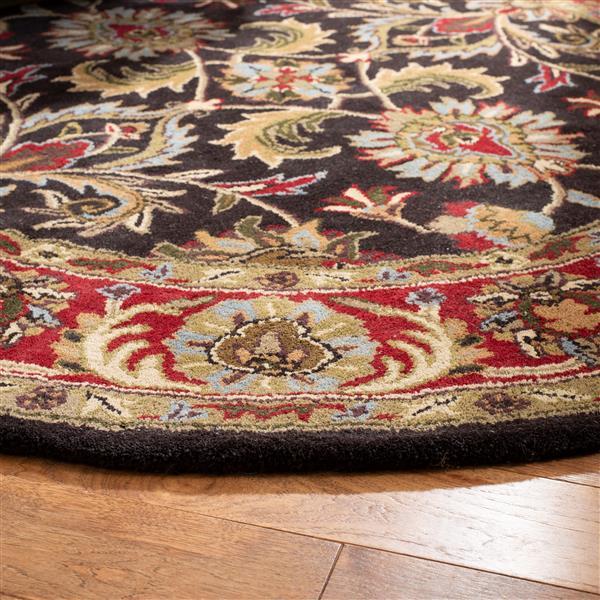 Safavieh Heritage Floral Rug - 4' x 4' - Wool - Chocolate/Red