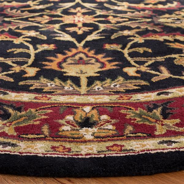 Safavieh Heritage Floral Rug - 11' x 15' - Wool - Black/Red