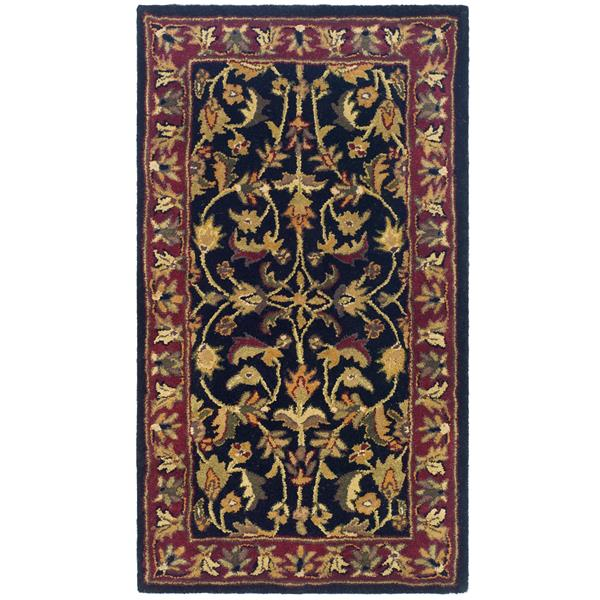 Safavieh Heritage Floral Rug - 2.3' x 4' - Wool - Black/Red