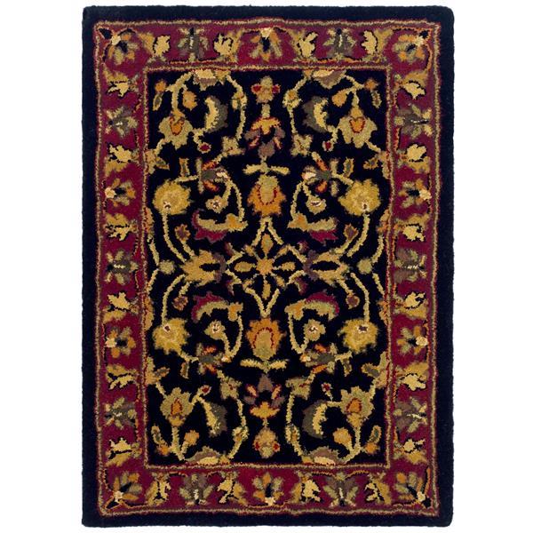 Safavieh Heritage Floral Rug - 2' x 3' - Wool - Black/Red