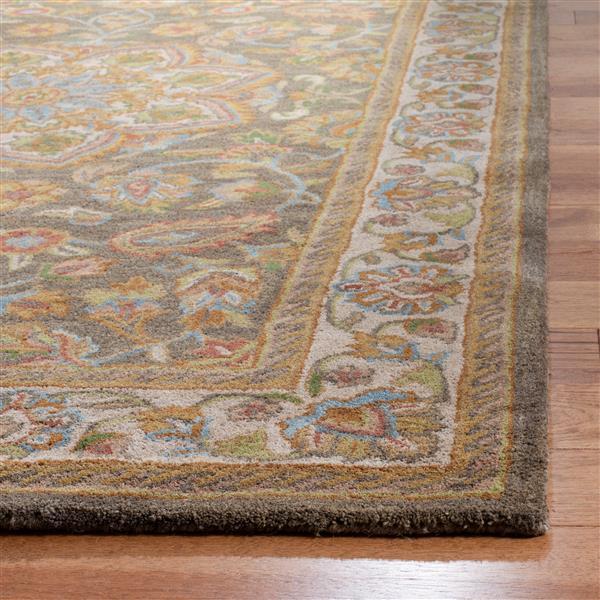 Safavieh Heritage Floral Rug - 2.3' x 6' - Wool - Green/Taupe