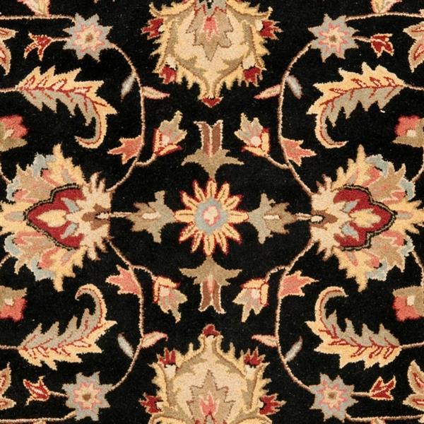 Safavieh Heritage Floral Rug - 11' x 15' - Wool - Black/Beige