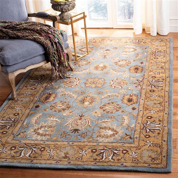 Safavieh Heritage Floral Rug - 12' x 18' - Wool - Blue/Gold
