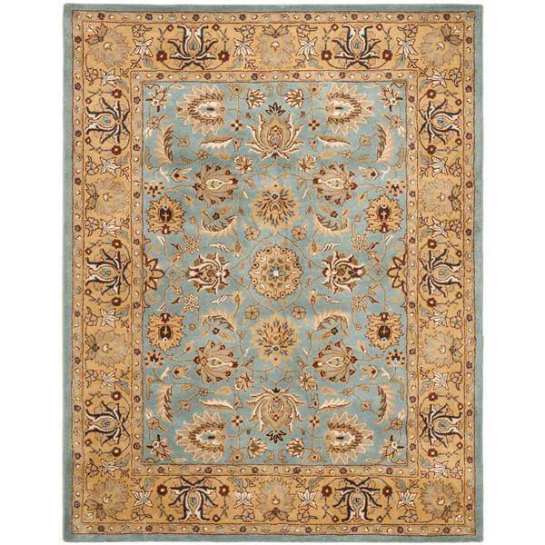 Safavieh Heritage Floral Rug - 12' x 15' - Wool - Blue/Gold