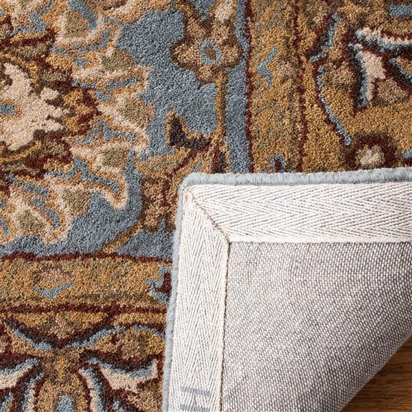 Safavieh Heritage Floral Rug - 3.5' x 3.5' - Wool - Blue/Gold