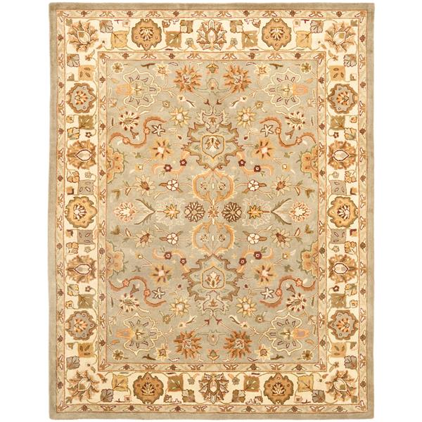 Safavieh Heritage Floral Rug - 12' x 15' - Wool - Light Green/Beige
