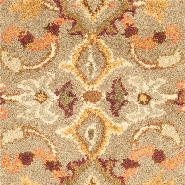 Safavieh Heritage Floral Rug - 2.3' x 4' - Wool - Light Green/Beige