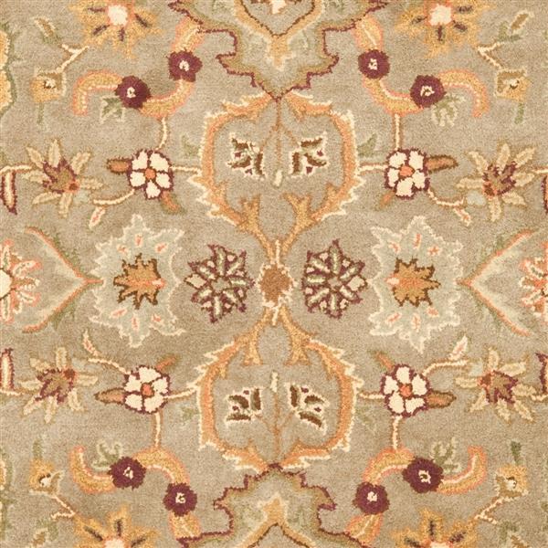 Safavieh Heritage Floral Rug - 3.5' x 3.5' - Wool - Light Green/Beige