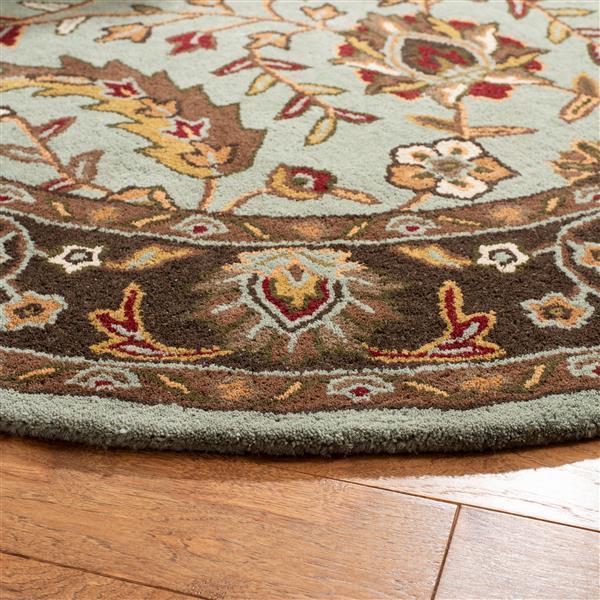 Safavieh Heritage Floral Rug - 2.3' x 8' - Wool - Blue/Brown