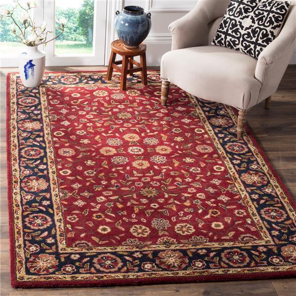 Safavieh Heritage Floral Rug - 2' x 3' - Wool - Red/Navy Blue