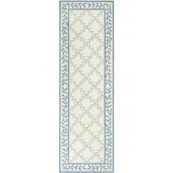 Safavieh Easy Care Rug - 2.5' x 8' - Polypropylene - Ivory/Light Blue