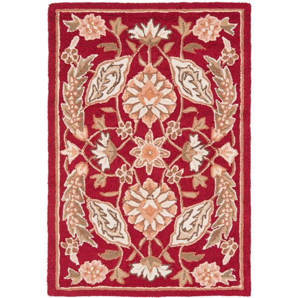 Safavieh Easy Care Floral Rug - 2' x 3' - Polypropylene - Red