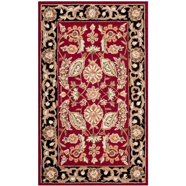 Safavieh Easy Care Floral Rug - 3' x 5' - Polypropylene - Red