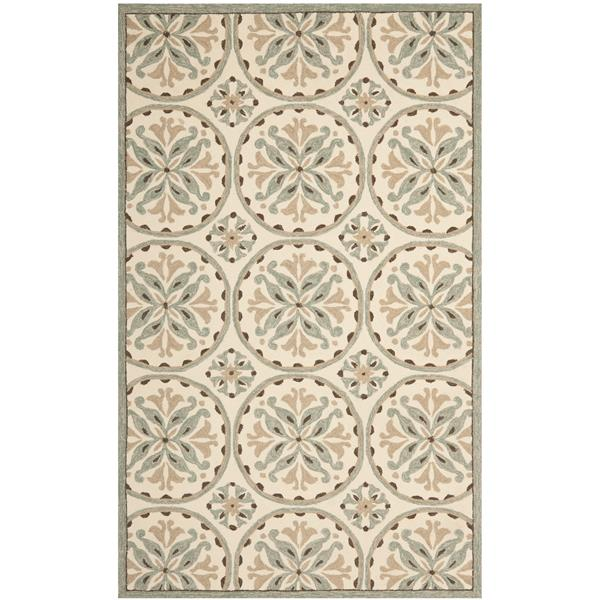 Safavieh Four Seasons Rug - 3.5' x 5.5' - Polyester - Green/Brown