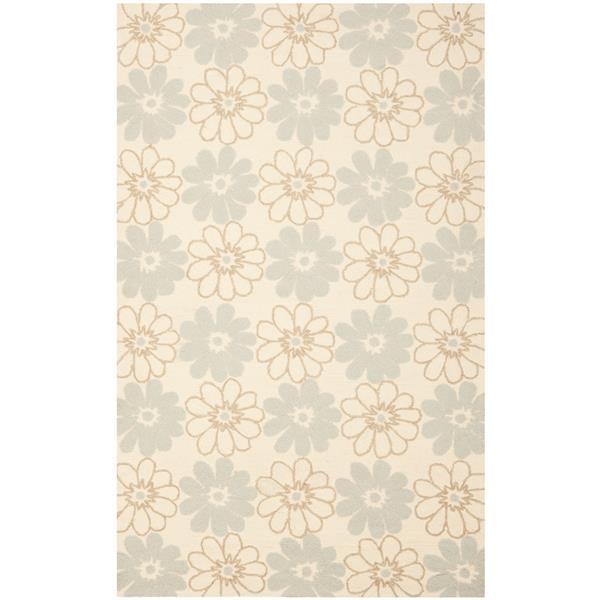 Safavieh Four Seasons Rug - 3.5' x 5.5' - Polyester - Ivory