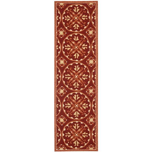 Safavieh Four Seasons Rug - 2.3' x 8' - Polyester - Red/Orange