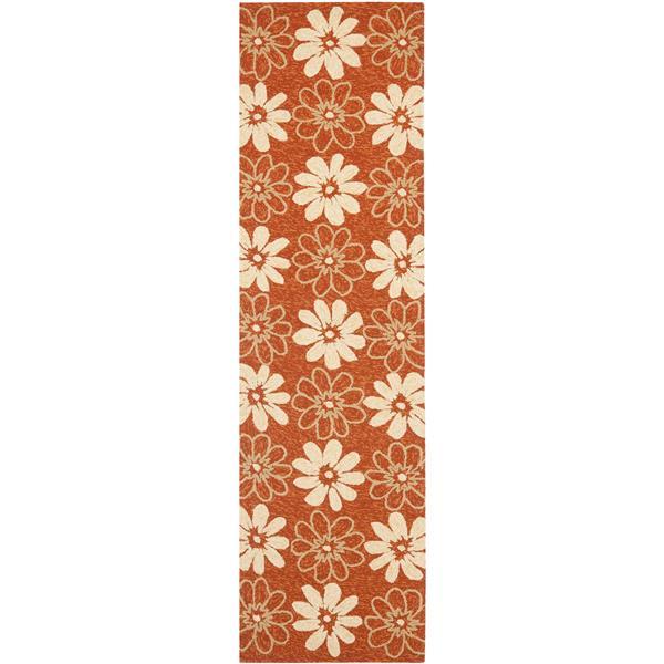 Safavieh Four Seasons Rug - 2.3' x 8' - Polyester - Rust/Ivory