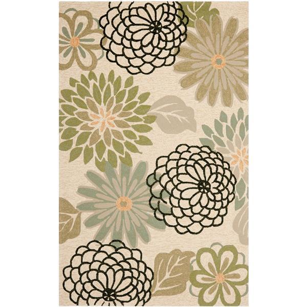 Safavieh Four Seasons Rug - 3.5' x 5.5' - Polyester - Beige/Green