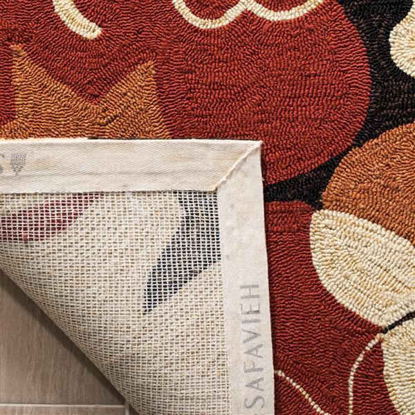 Safavieh Four Seasons Rug - 3.5' x 5.5' - Polyester - Black/Orange