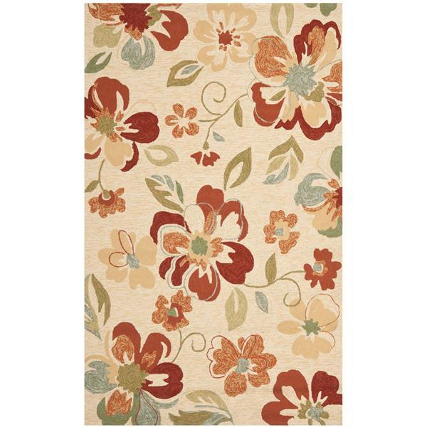 Safavieh Four Seasons Rug - 3.5' x 5.5' - Polyester - Beige/Red