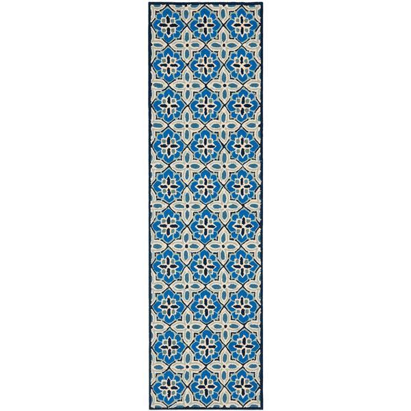 Safavieh Four Seasons Floral Rug - 2.3' x 8' - Polyester - Blue