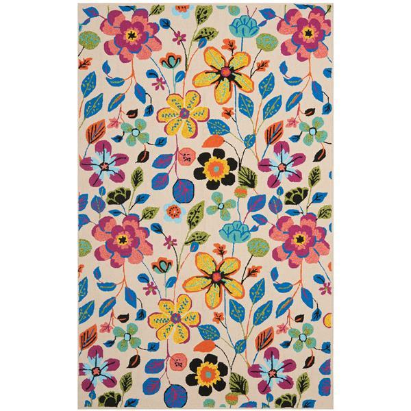 Safavieh Four Seasons Floral Rug - 5' x 8' - Polyester - Multicolour