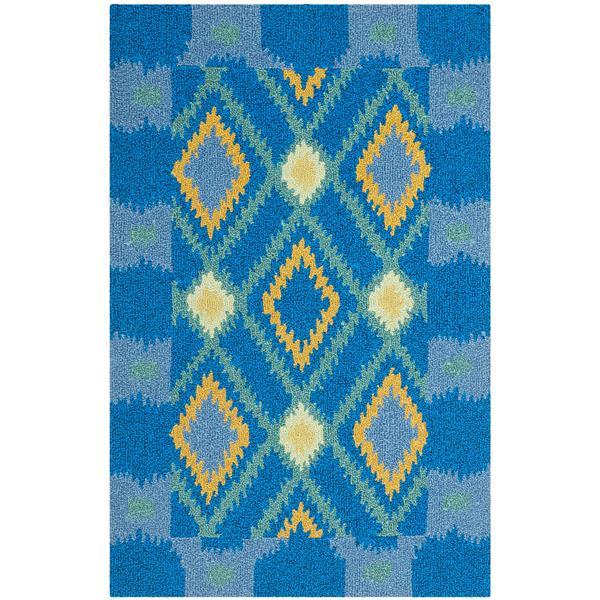 Safavieh Four Seasons Rug - 2.5' x 4' - Polyester - Indigo/Yellow