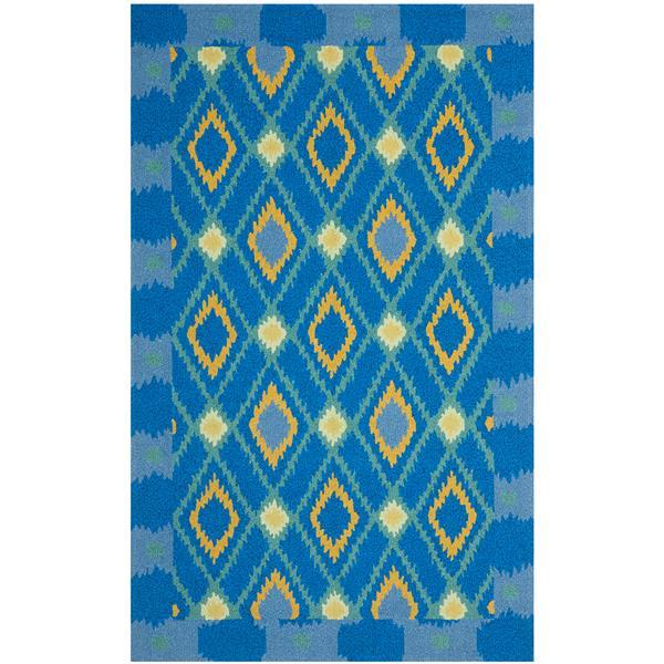 Safavieh Four Seasons Rug - 3.5' x 5.5' - Polyester - Indigo/Yellow