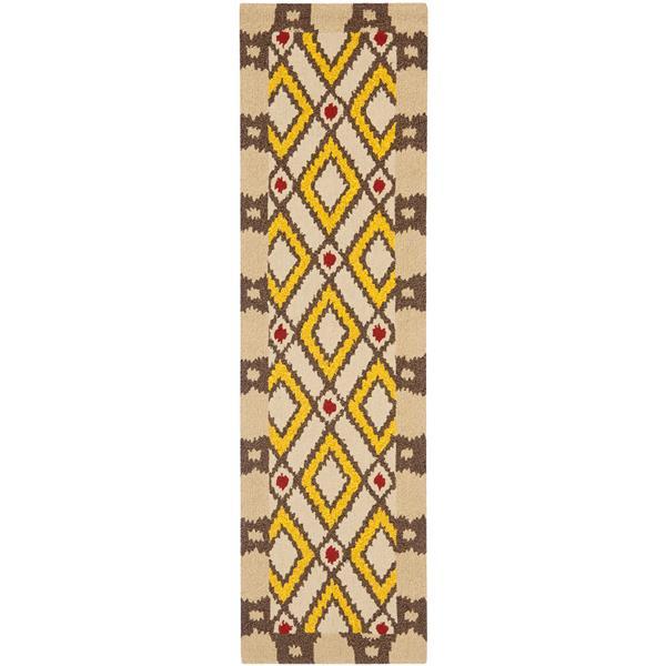 Safavieh Four Seasons Rug - 2.3' x 6' - Polyester - Beige/Yellow