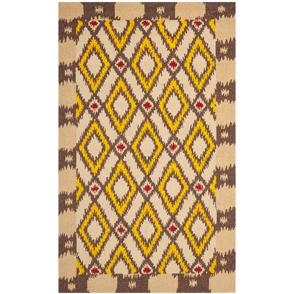 Safavieh Four Seasons Rug - 3.5' x 5.5' - Polyester - Beige/Yellow