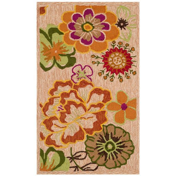 Safavieh Four Seasons Rug - 2.5' x 4' - Polyester - Ivory/Green