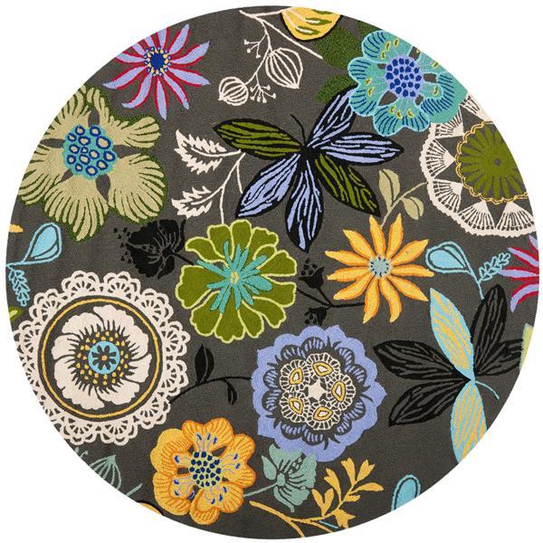 Safavieh Four Seasons Floral Rug - 6' x 6' - Polyester - Multicolour