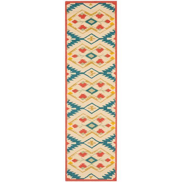 Safavieh Four Seasons Rug - 2.3' x 6' - Polyester - Natural/Blue