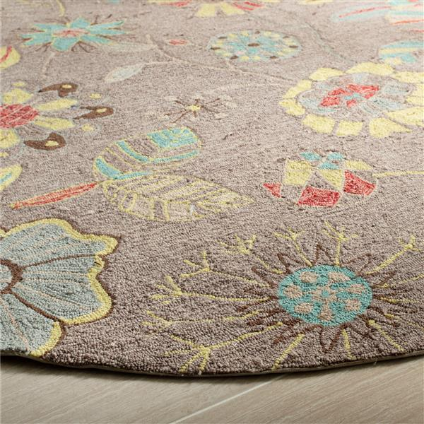 Safavieh Four Seasons Floral Rug - 2.3' x 6' - Polyester - Gray/Blue