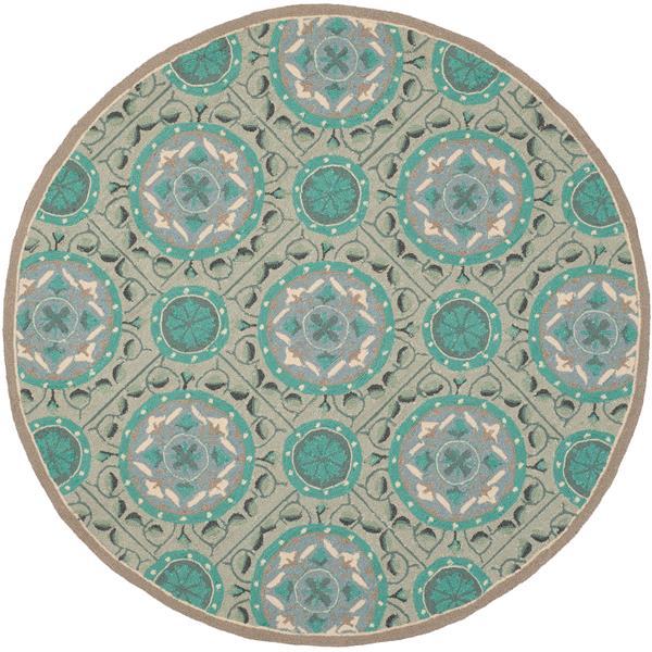 Safavieh Four Seasons Rug - 4' x 4' - Polyester - Mint/Aqua