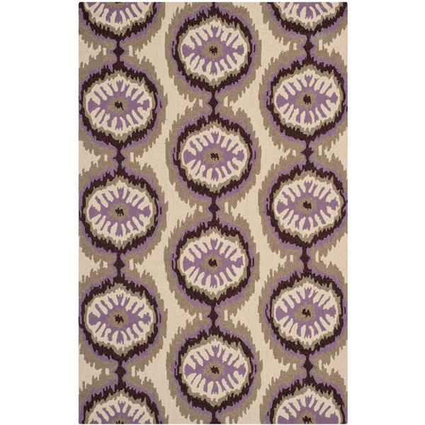 Safavieh Four Seasons Rug - 2.5' x 4' - Polyester - Beige/Purple